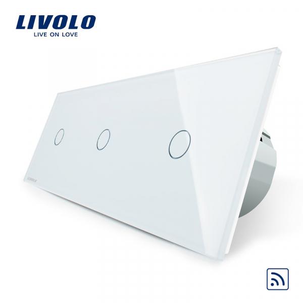 Întrerupător touch 3 x simplu RF Livolo 0