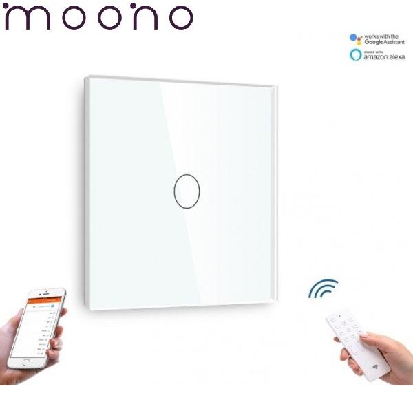 Întrerupător Touch Simplu WIFI+RF Direct - moono 0