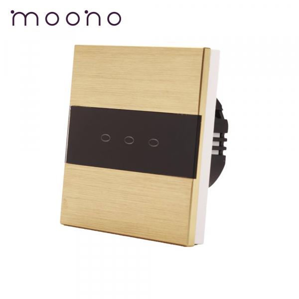 Întrerupător touch triplu M3 moono 0