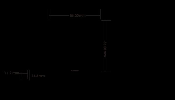 Întrerupător Wireless simplu Kinetic Energy 1