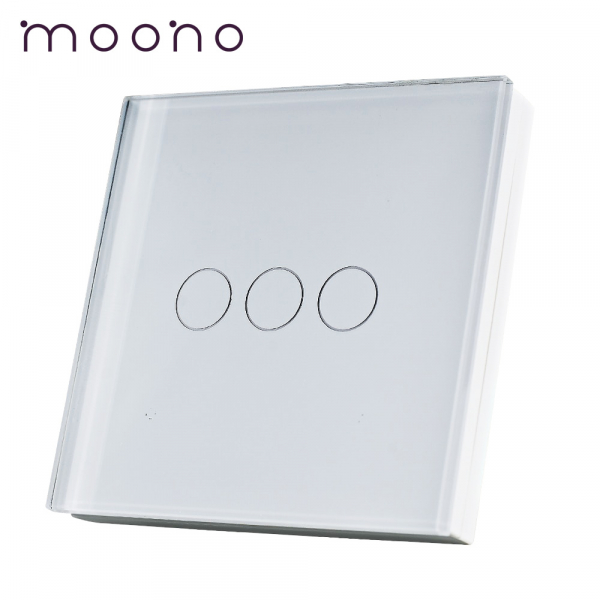 Întrerupător Wireless Triplu moono - tip telecomandă 0