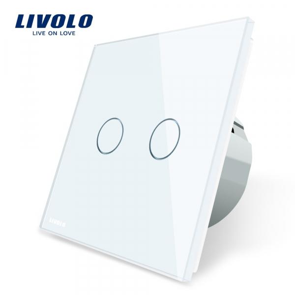 Întrerupător touch dublu Livolo 0