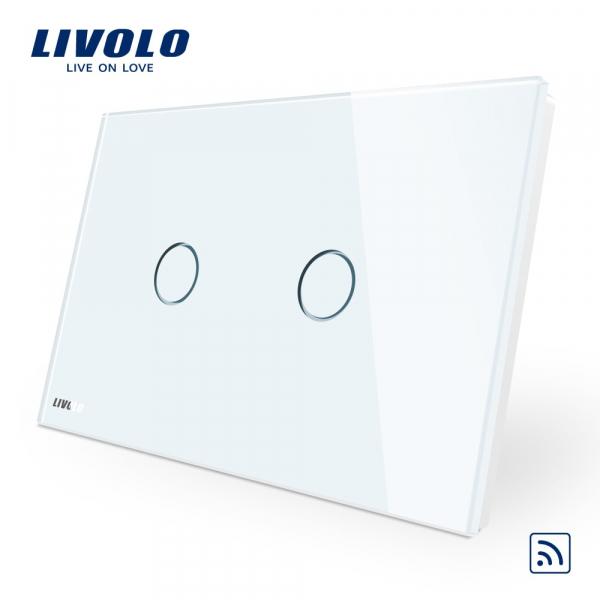 Întrerupător touch dublu RF Livolo Standard Italian 0
