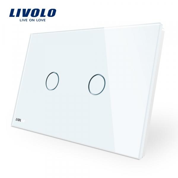 Întrerupător touch dublu Livolo Standard Italian 0