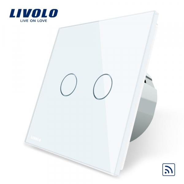 Întrerupător touch dublu RF Livolo 0