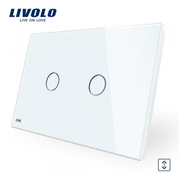 Întrerupător touch acționare jaluzele Livolo Standard Italian 0