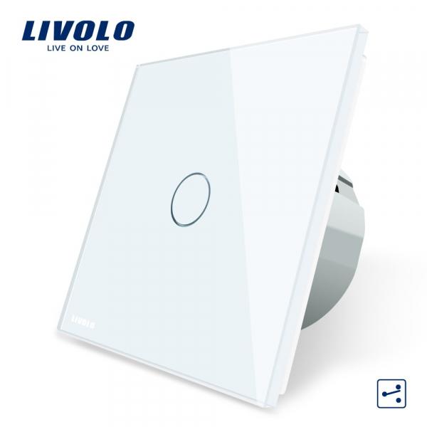 Întrerupător touch simplu cap-scară / cruce Livolo 0