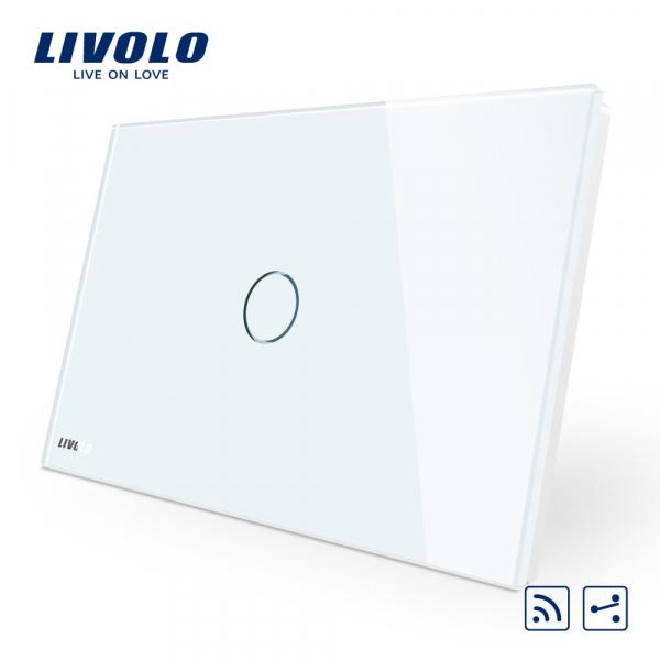 Întrerupător touch simplu RF cap-scară / cruce Livolo Standard Italian 0