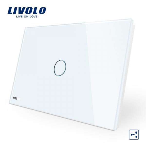 Întrerupător touch simplu cap-scară / cruce Livolo Standard Italian 0