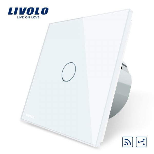 Întrerupător touch simplu RF cap-scară / cruce Livolo 0