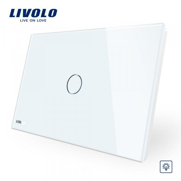 Întrerupător touch simplu cu variator (dimmer) Livolo Standard Italian 0