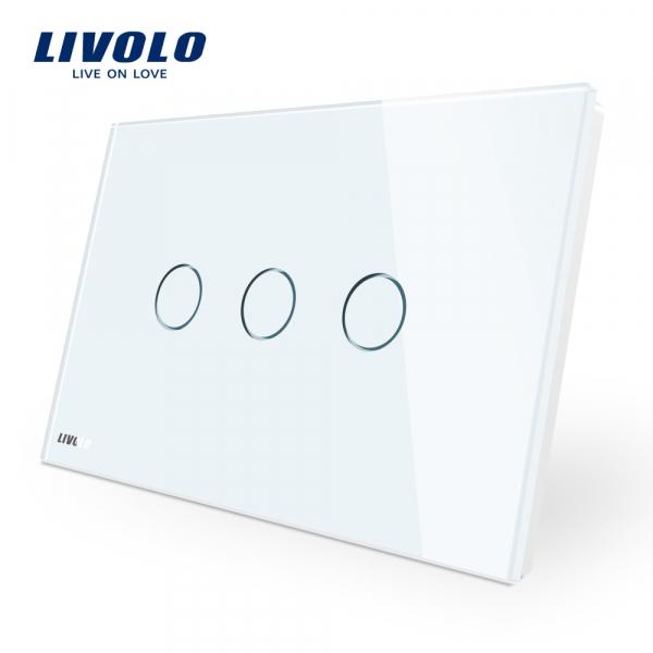 Întrerupător touch triplu Livolo Standard Italian 0