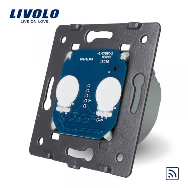 Modul întrerupător touch dublu RF Livolo 0