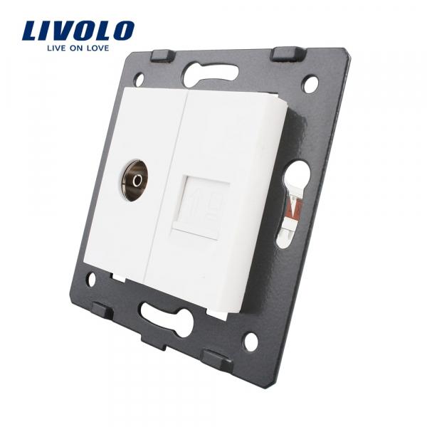 Modul priză TV + RJ45 Livolo 0