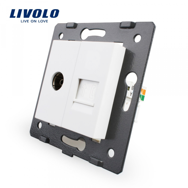 Modul priză TV + RJ11 Livolo 0