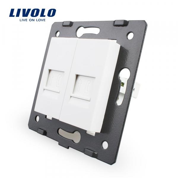 Modul priză 2 x Telefon RJ11 Livolo 0
