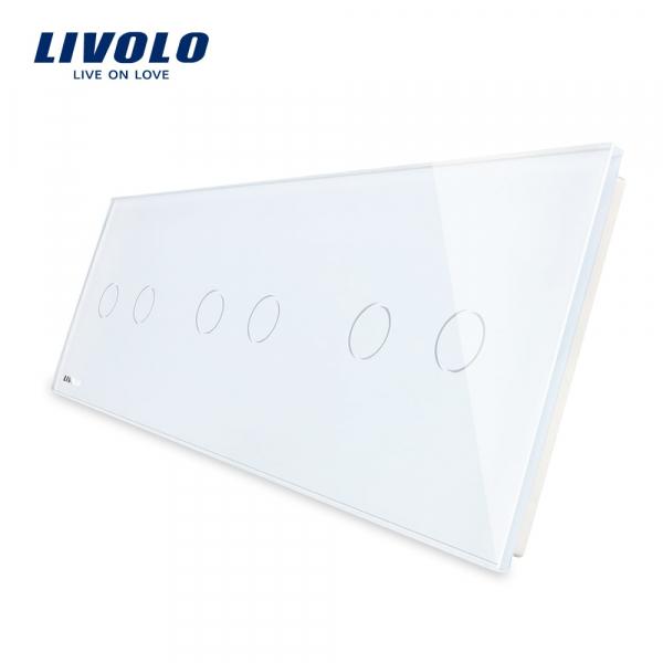 Panou întrerupător 3 x dublu din sticlă Livolo 0