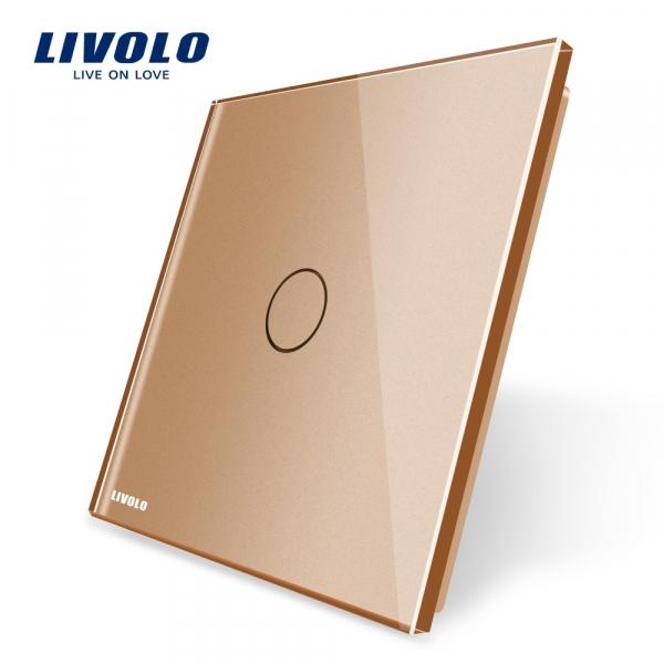 Panou întrerupător simplu din sticlă Livolo 0