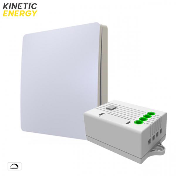 KIT Întrerupător simplu cu revenire Kinetic Energy + Controller Kinetic Energy, 1 canal, 1,5A, dimmer 0