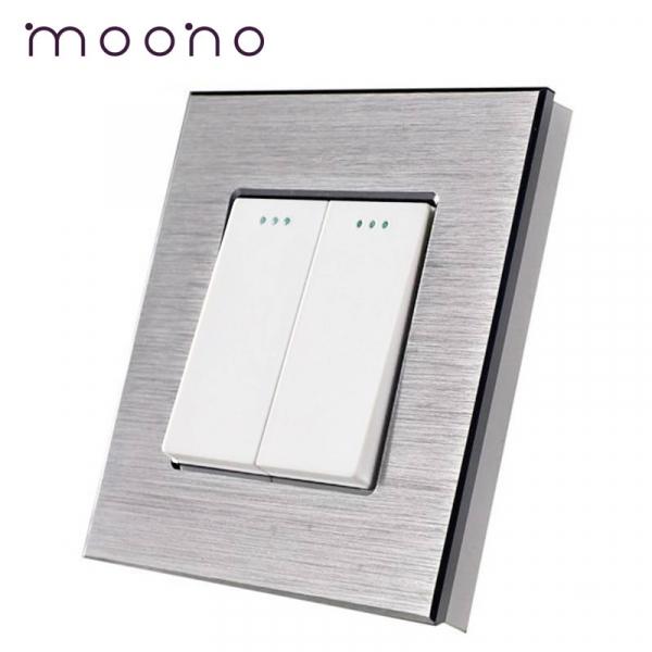 Întrerupător clasic dublu M2 moono 0