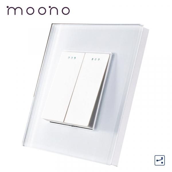 Întrerupător clasic dublu cap-scară M1 moono 0