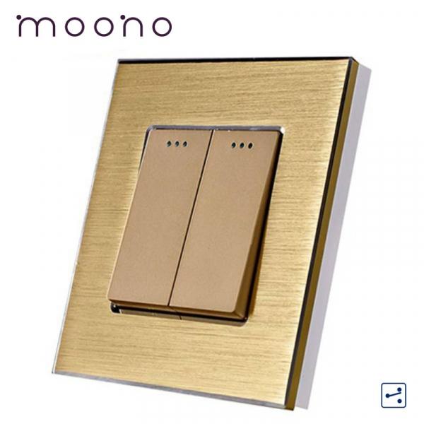Întrerupător clasic dublu cap-scară M2 moono 0