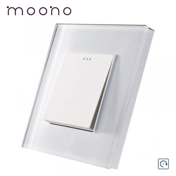 Întrerupător clasic simplu reset (cu revenire) M1 moono 0