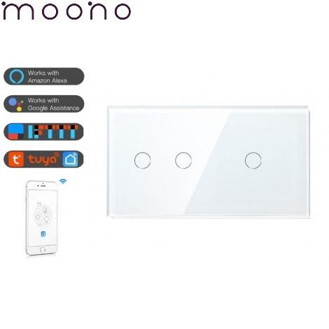 Intrerupator dublu+simplu WiFi - moono 0