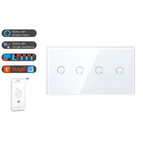 Intrerupator dublu+dublu WiFi - moono 0