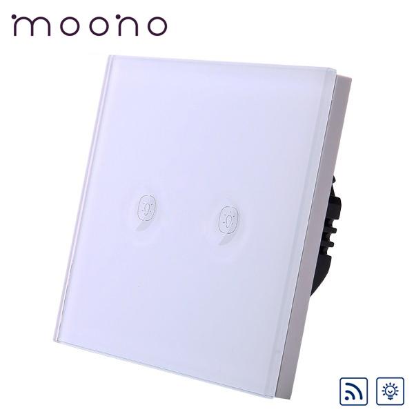 Întrerupător touch dublu RF cu variator (dimmer) M1A moono 0