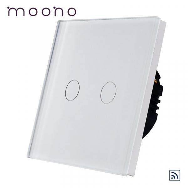 Întrerupător touch dublu RF M1 moono [0]