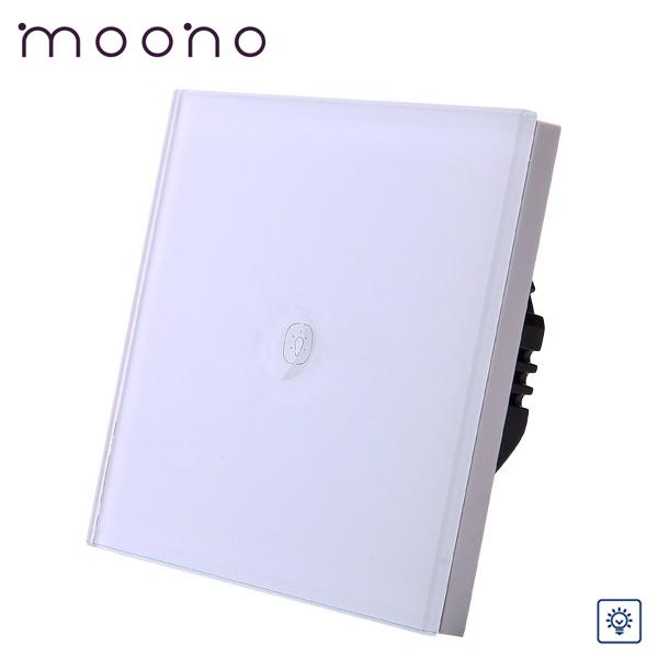 Întrerupător touch simplu cu variator (dimmer) M1A moono 0