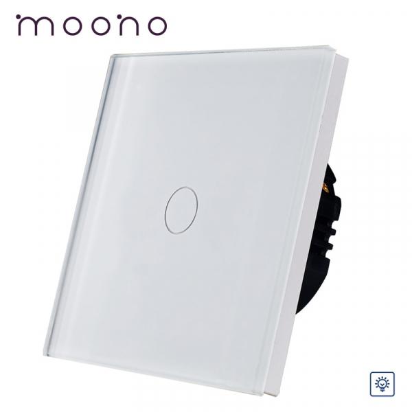 Întrerupător touch simplu cu variator (dimmer) M1 moono
