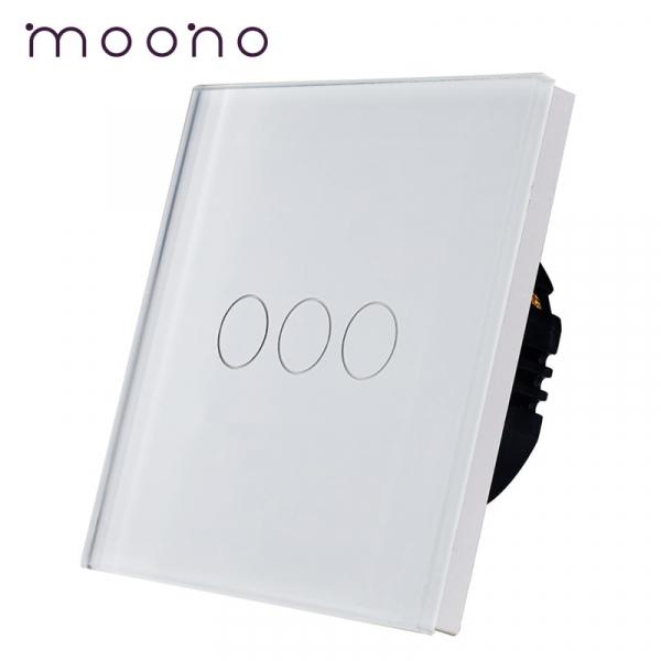 Întrerupător touch triplu M1 moono 0