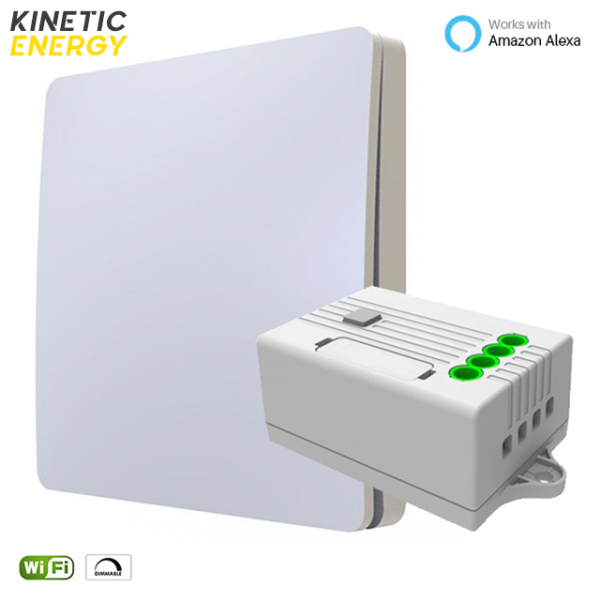 KIT Întrerupător simplu Kinetic Energy + Controller 1 canal, 1A, Dimmer WiFi 0