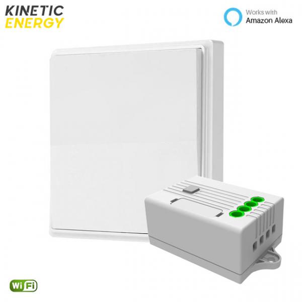 KIT Întrerupător simplu Kinetic Energy + Controller 1 canal, 5A, WiFi 0