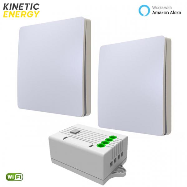 KIT Cap-Scară 2 Întrerupătoare simple Kinetic Energy + Controller 1 canal, 5A, WiFi 0