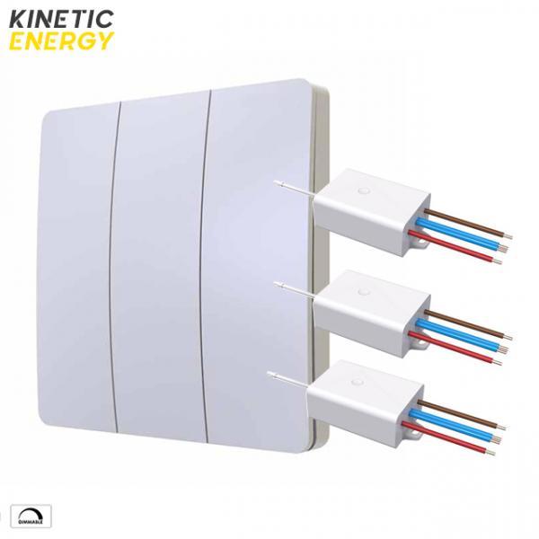 KIT Întrerupător triplu Kinetic Energy + 3 Controllere mini 1 canal 0.5A dimmer 0