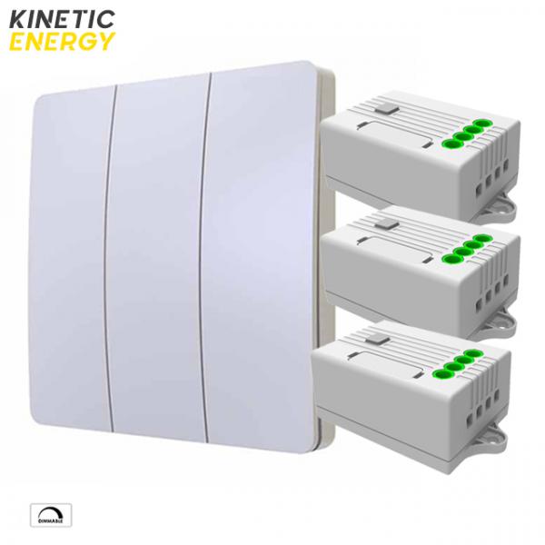 KIT Întrerupător triplu Kinetic Energy + 3 Controllere 1 canal 1.5A dimmer 0