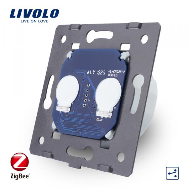Modul întrerupător touch dublu cap-scară / cruce Zigbee Livolo 0