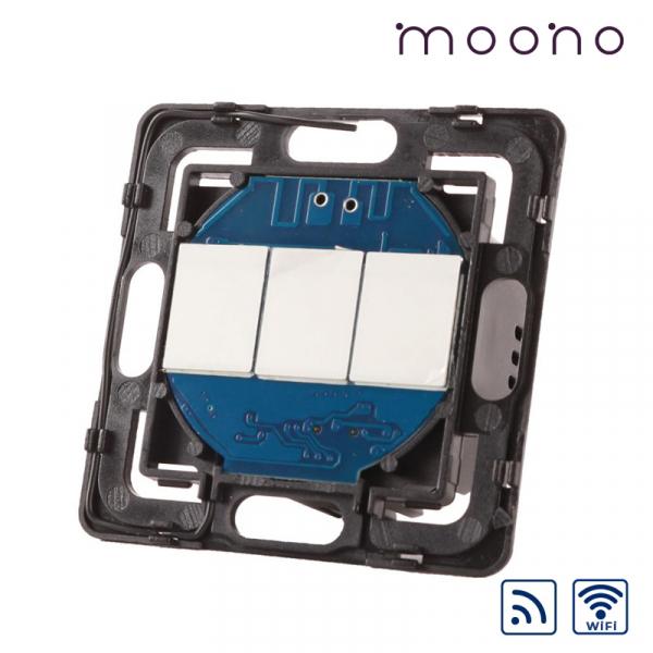 Modul întrerupător touch triplu WiFi și RF moono 0