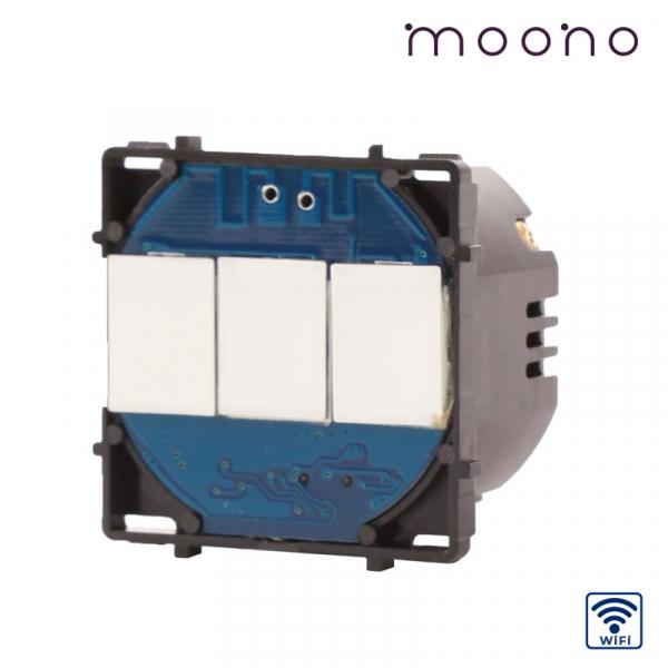 Modul întrerupător touch triplu WiFi moono 0