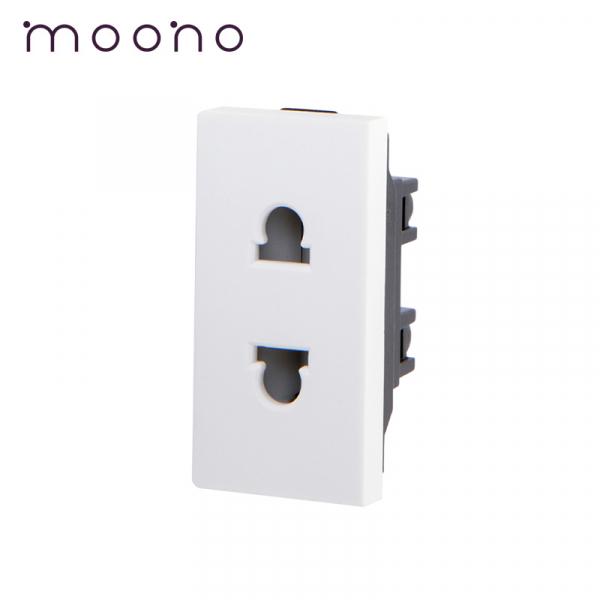 Modul 1/2 priză EURO-US 2P moono 0