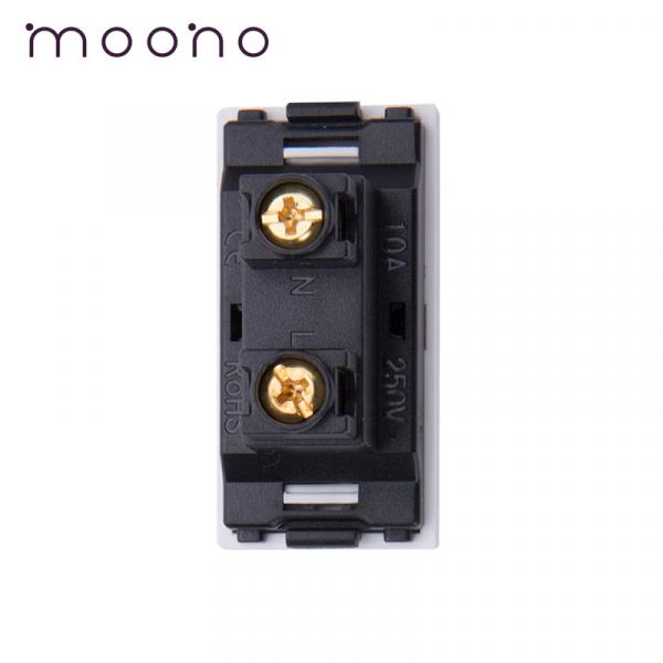 Modul 1/2 priză EURO-US 2P moono 1