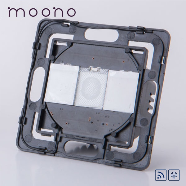 Modul întrerupător touch dublu RF cu variator (dimmer) moono 0