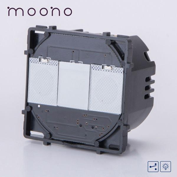 Modul întrerupător touch dimmer cap-scară / cruce moono 0