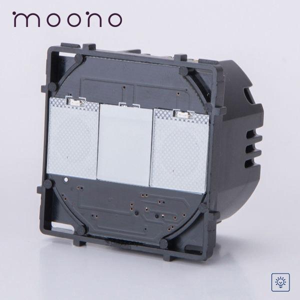 Modul întrerupător touch simplu cu variator (dimmer) moono 0