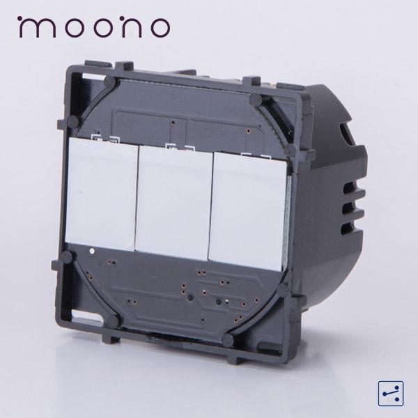 Modul întrerupător touch triplu cap-scară / cruce moono 0