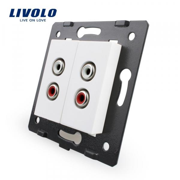 Modul priză 2 x RCA Livolo 0