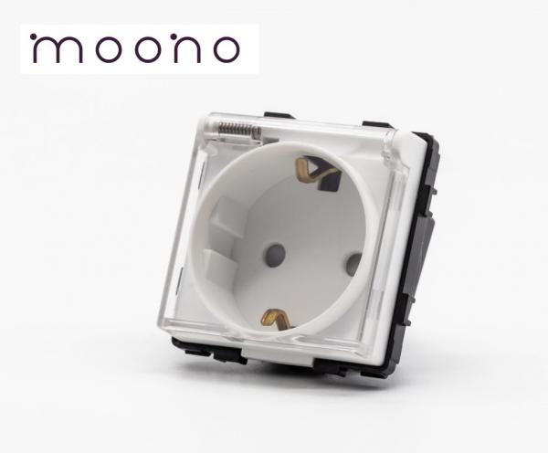 Modul priză Schuko cu capac moono 0